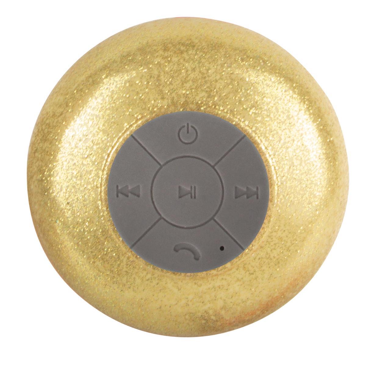 haut-parleur douche or doré