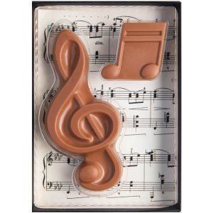 notes de musique chocolats