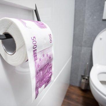 papier toilette billet 500 euros