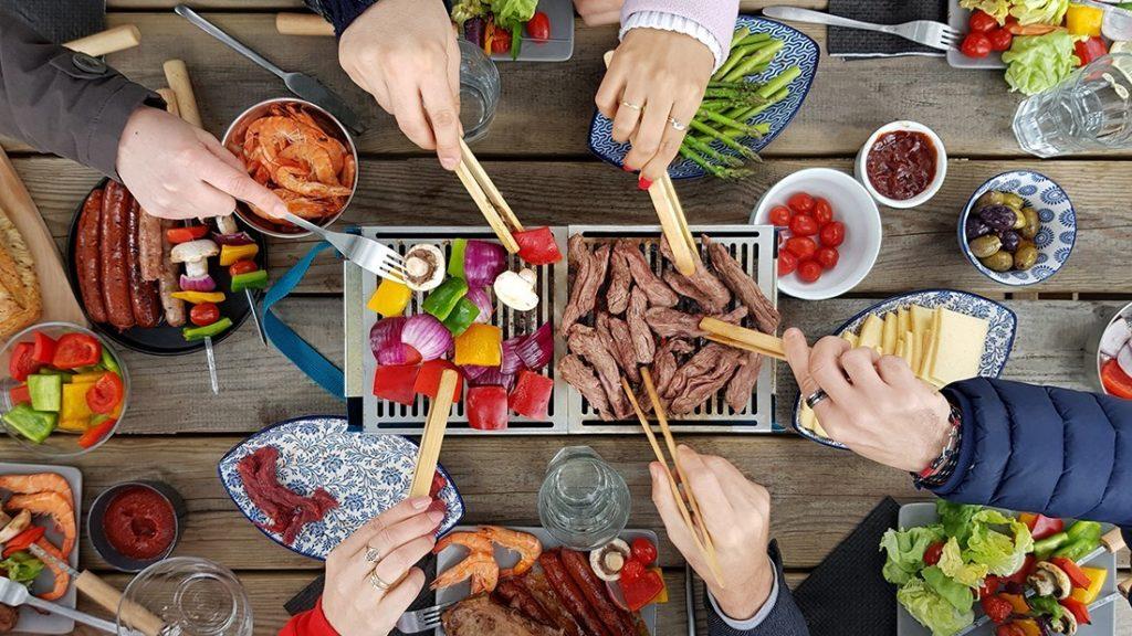 barbecue de table compact