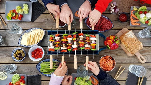 barbecue de table compact