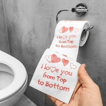 papier toilette I love you