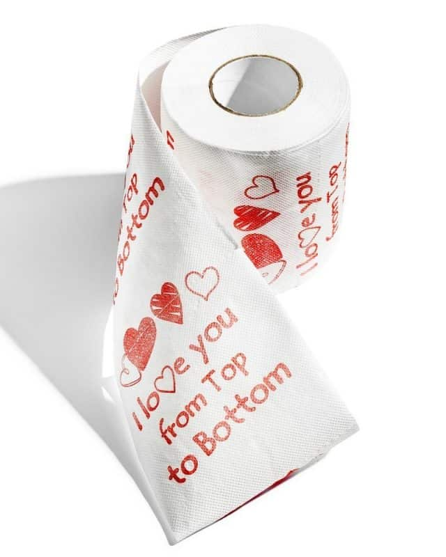 papier toilette I love you