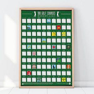poster 100 plus beaux golfs du monde