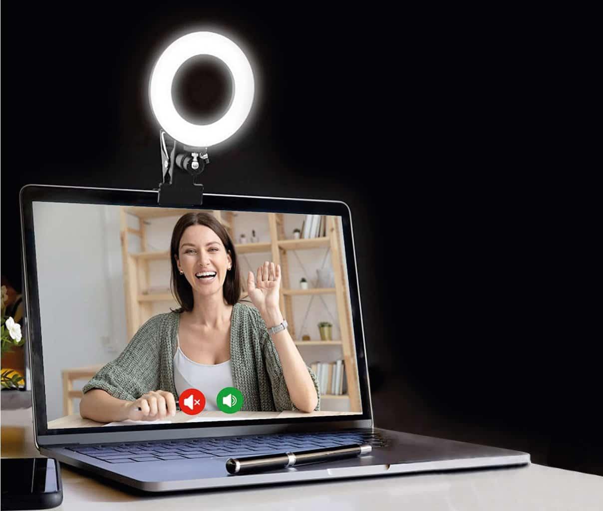 anneau lumineux ordinateur