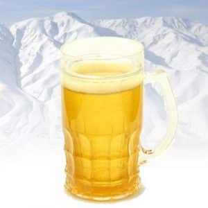 chope pinte de bière réfrigérée