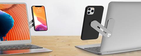 support magnétique smartphone ordinateur