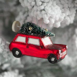 boule de noel voiture austin mini
