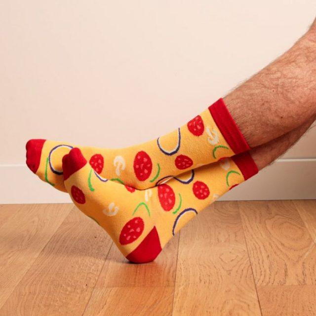 chaussettes pizza