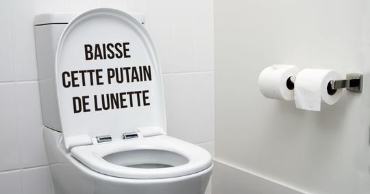 sticker baisse cette putain de lunette toilettes